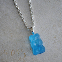 Blue Gummy Bear Necklace