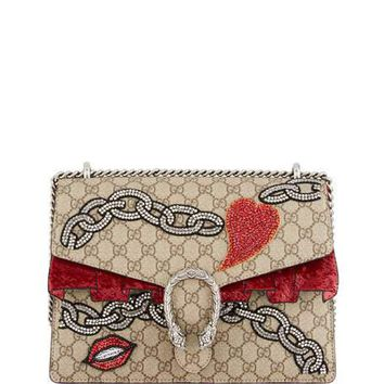 Gucci Dionysus GG Supreme Shoulder Bag, Beige Multi