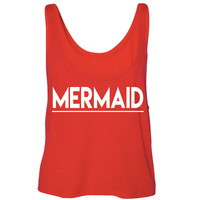 Mermaid Flowy Boxy Tank Top