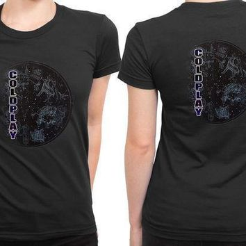 Coldplay Star Three 2 Sided Womens T Shirt