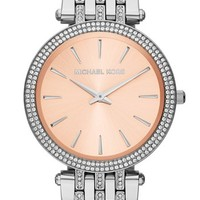 Michael Kors 'Darci' Crystal Bezel Bracelet Watch, 39mm
