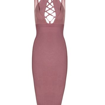 Freya Salmon Midi Dress