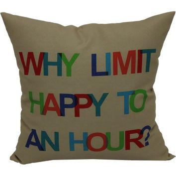 "Mainstays 16"" Words Outdoor Pillow - Walmart.com"