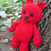 Ruby Red Teddy Bear July Birthstone