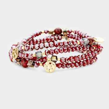 Coin and Bead Stretch Bracelet Sets - Click for Colors