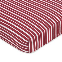 Sweet Jojo Designs Pirate Treasure Cove Fitted Crib Sheet in Stripes