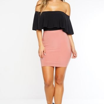 Rya Mini Skirt - Mauve