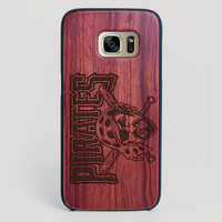 Pittsburgh Pirates Galaxy S7 Edge Case - All Wood Everything