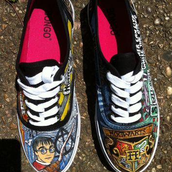 Hand painted Harry Potter Shoes from WV