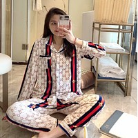 GUCCI new women's wild pajamas set two-piece