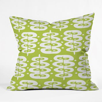 Heather Dutton Fern Frond Green Throw Pillow