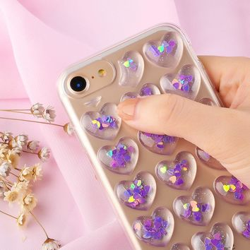Glitter Hearts Phone Case