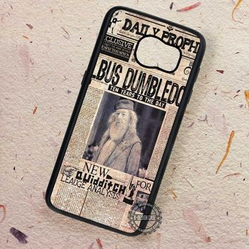 Albus Dumbledore Daily Prophet Newspaper Harry Potter - Samsung Galaxy S7 S6 S5 Note 7 Cases & Covers