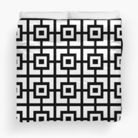 Black And White Square Tiles by KCavender
