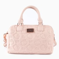 Hello Kitty Embossed Crossbody Bag: Dusty Pink