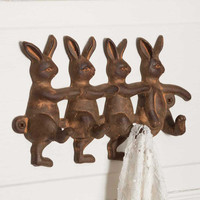 Four Rabbits Wall Hook  - SET OF 2 - *FREE SHIPPING*