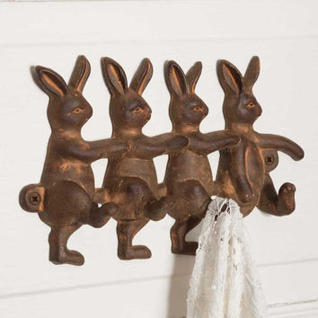 CTW Home Collection - Four Rabbits Wall Hook