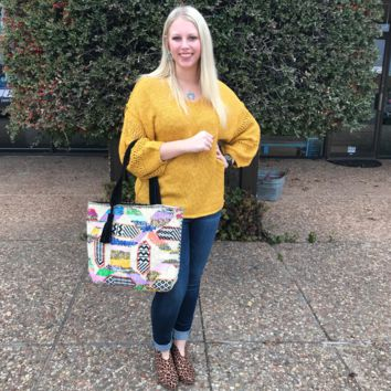 Woven Bright Patch Work Tote