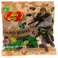 Jelly Belly Camo Beans Freedom Isn't Free Lot of 3 Bags 3.5 oz Military Made USA