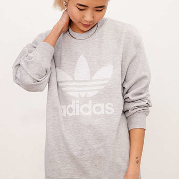 adidas Originals Double Logo Crew Neck Sweatshirt - Urban Outfitters