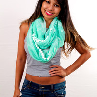 Wonderland Honolulu Oceania Infinity Scarf Starfish Sea Glass