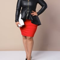 Edgy Quilted Leather Jacket+