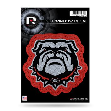 Georgia Bulldogs Decal 5.5x5 Die Cut Bling
