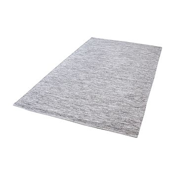 8905-003 Alena Handmade Cotton Rug In Black And White - 2.5ft x 8ft