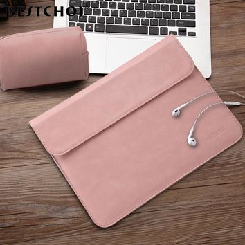 BESTCHOI Laptop Sleeve Bag for Macbook Pro Air 11 13 15 Case Women Men Waterproof Laptop Case Cover 12 13 13.3 14.1 15.4 inch