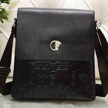 Versace Men Leather Office Bag Satchel Shoulder Bag Crossbody f0abca1813