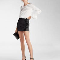 Ruffle Pocket Mini Skirt