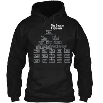 Mens The Cousin Explainer - Family Tree Gift  Idea Pullover Hoodie 8 oz