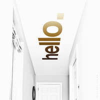 'Hello' Hallway Ceiling Sticker