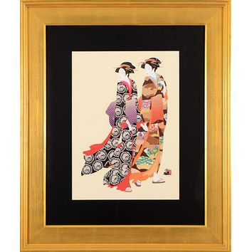 Ukiyo-e Sisters - Limited Edition Printers Proof Lithograph on Paper by Hisashi Otsuka