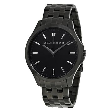 Armani Exchange Black DIal Black PVD Stainless Steel Mens Watch AX2159