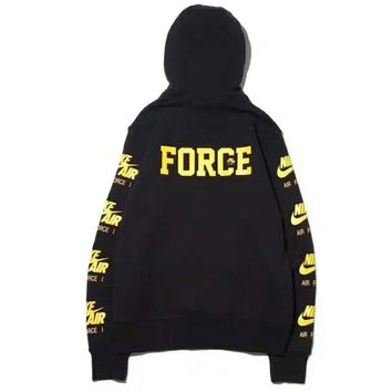NIKE AIR FORCE Men Fashion Casual Long Sleeve Pullover Hoodie Long Sleeve Sweater G-ZDL-STPFYF-1