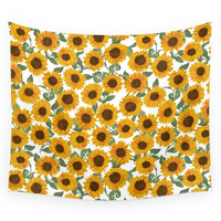 Society6 SUNNY DAYS -sunflowers- Wall Tapestry