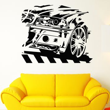 Vinyl Wall Decal BMW German Car Racing Speed Race Driver Stickers Unique Gift (1841ig)