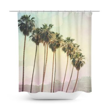 Row of Palm Trees Shower Curtain