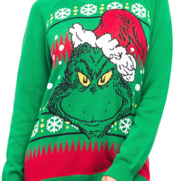GRUMPY GRINCH CHRISTMAS SWEATER - HOLIDAY