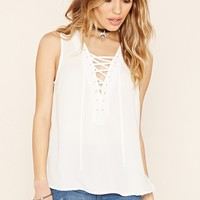 Lace-Up Grommet Top