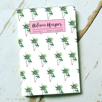 Mini Palm Tree Personalized Planner