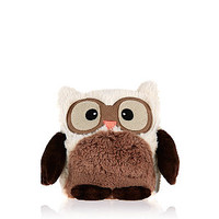 Brown and White Microwavable Wheat Owl