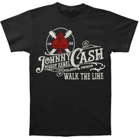 Johnny Cash Men's  Vinyl T-shirt Black Rockabilia