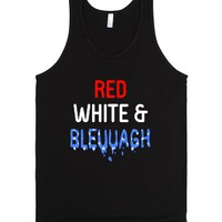 Red White & Bleuuagh-Unisex Black Tank