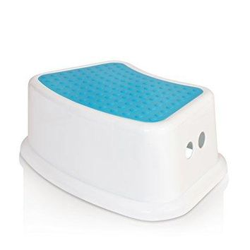 Kids Best Friend Boys Blue Step Stool, Take It Along in Bedroom, Kitchen, Bathroom and Living Room. Great For potty Training!