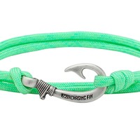 Mint Green Fish Hook Bracelet