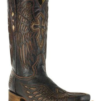 Corral Men's Square Toe Wing and Cross Western Boots
