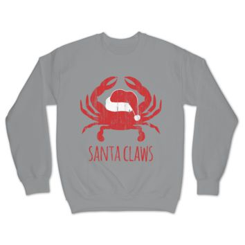 Santa Claws V2.0 (Grey) / Crew Sweatshirt