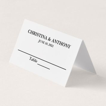 Elegant Personalized Wedding Reception Place Card